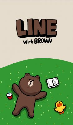 LINE with BROWN