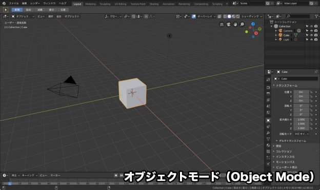オブジェクトモード(Object Mode)